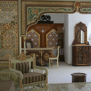 Maison de l 39 artisanat du denden for Meuble arabesque tunisie